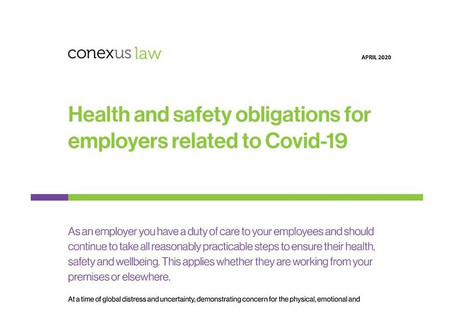 Fact Sheet: Health and safety obligations for employers related to Covid-19