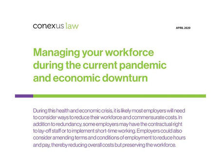 Fact Sheet: Managing your workforce during the current pandemic and economic downturn