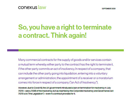 Fact Sheet: So, you have a right to terminate a contract. Think again!