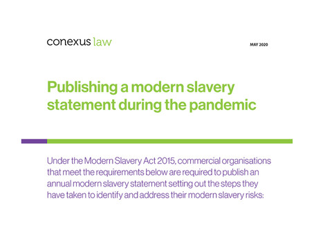 Fact Sheet: Publishing a modern slavery statement during the pandemic
