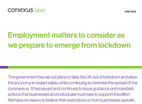 Fact Sheet: Employment matters to consider as we prepare to emerge from lockdown