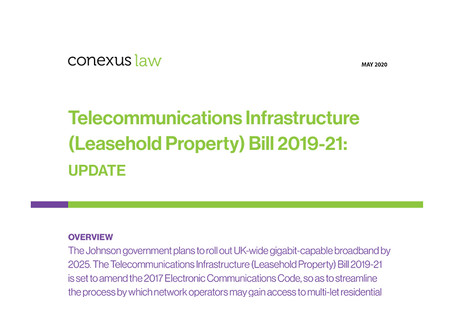 Fact Sheet: Update on Telecommunications Infrastructure (Leasehold Property) Bill 2019-21