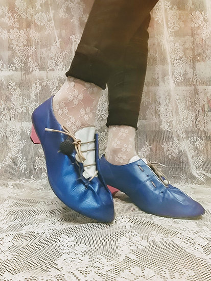 Victorian blue shoes