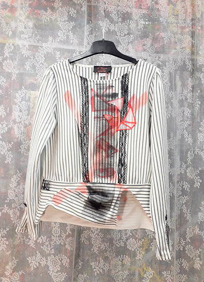 Conventional Punk Striped Blouse