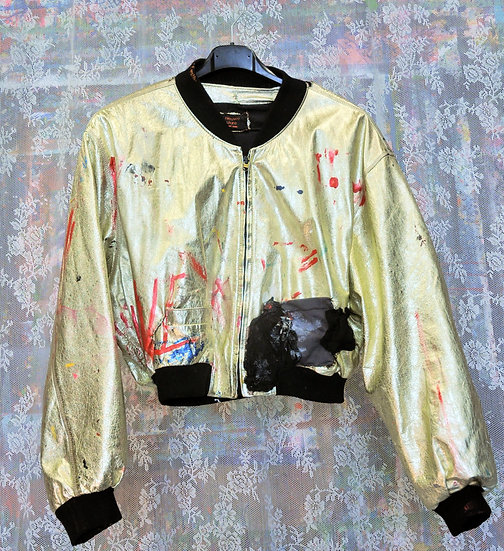 Punk is golden jacket