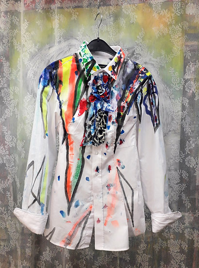 Painted boyfriend blouse