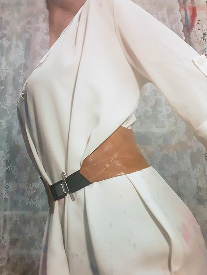 Suspender and leather belt