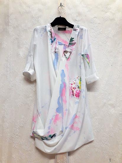 Pastel summer blouse