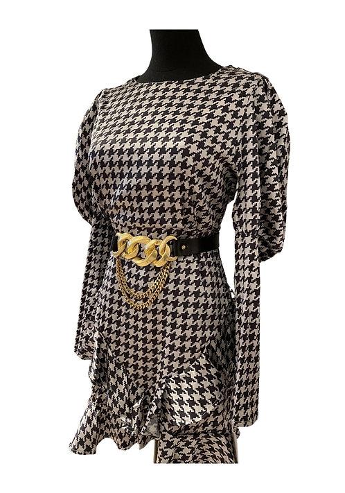 Satin Check dress