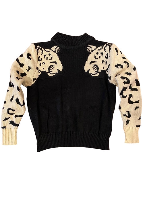 Leopard Sweater Black and Green