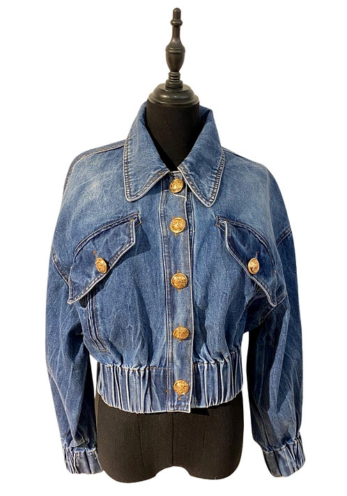Jeans Jacket with Golden Buttons