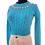 Thumbnail: Jewels cropped sweater turquoise