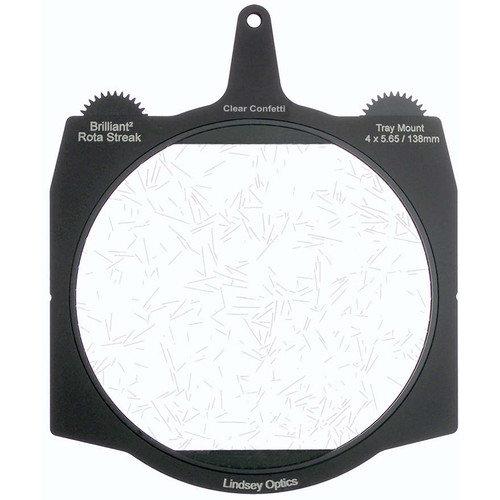 4 x 5.65 Lindsey Optics Clear Confetti