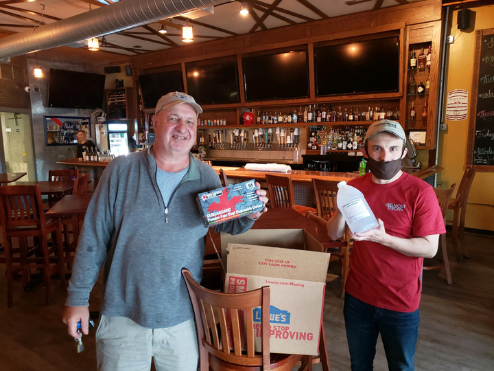 Seth delivers PPE relief to Glenway Premium Pub