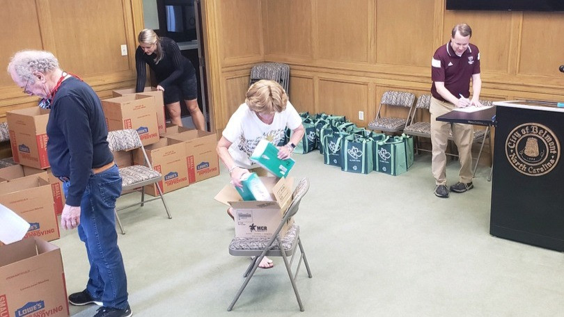 DBDA sorts PPE for distribution to downtown businesses