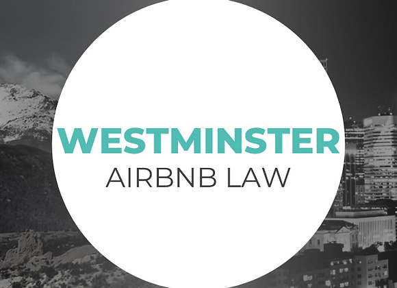 Westminster Airbnb Law