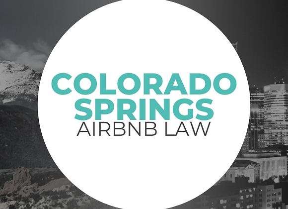 Colorado Springs Airbnb Law