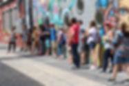 Mural/street art in Denver's RiNo Art District by street artists Brian Scott Hampton and Mpek.