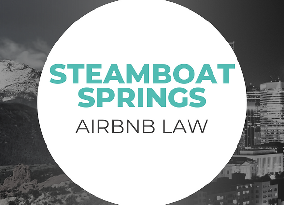 Steamboat Springs Airbnb Law