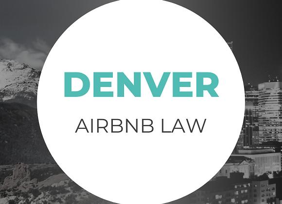 Denver Airbnb Law