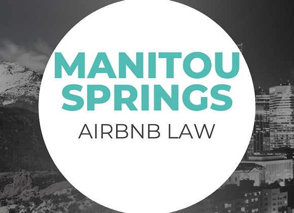 Manitou Springs Airbnb Law