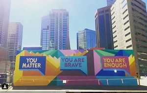 Denver's So-Gnar Creative Division painted this street mural for Kaiser Permanente to help open a dialogue about suicide.