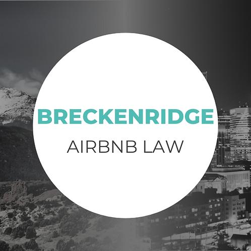 Breckenridge Airbnb Law