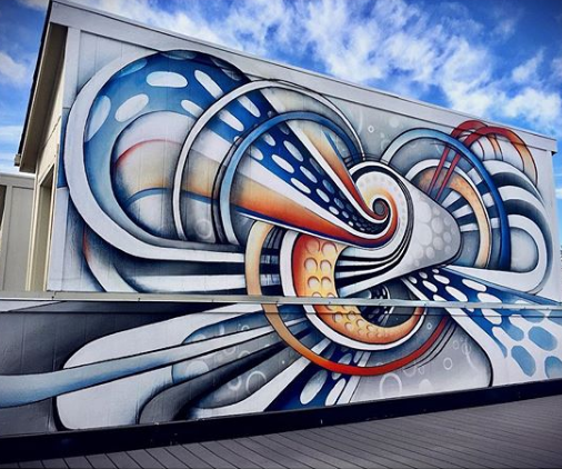 Denver street artist Anna Charney's work can be found around the RiNo Art District as well as other graffiti-marked spots around Denver.