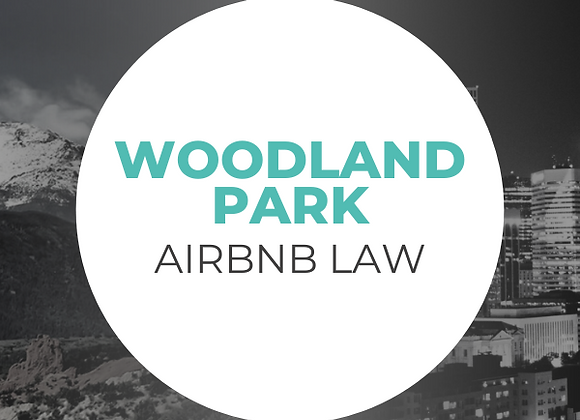 Woodland Park Airbnb Law