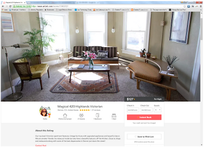 Good Airbnb listing page from Denver