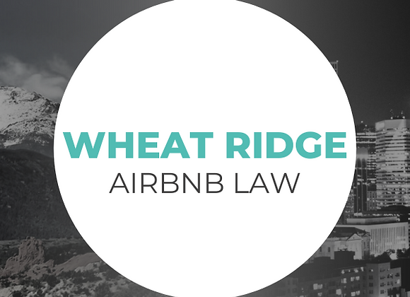 Wheat Ridge Airbnb Law