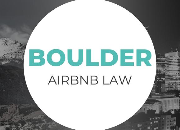 Boulder Airbnb Law