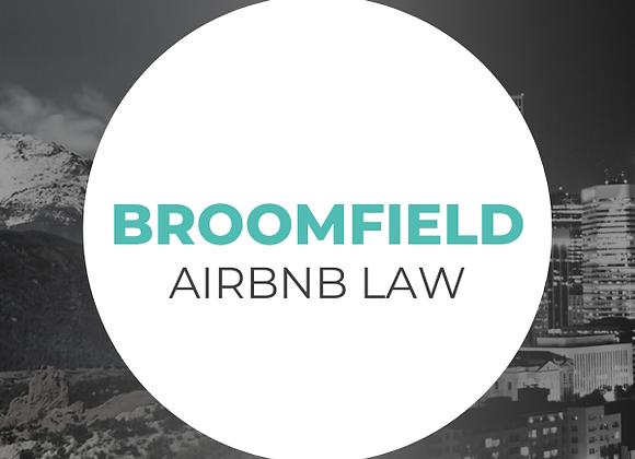 Broomfield Airbnb Law