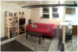 A bad Airbnb photo of a basement apartment in Denver