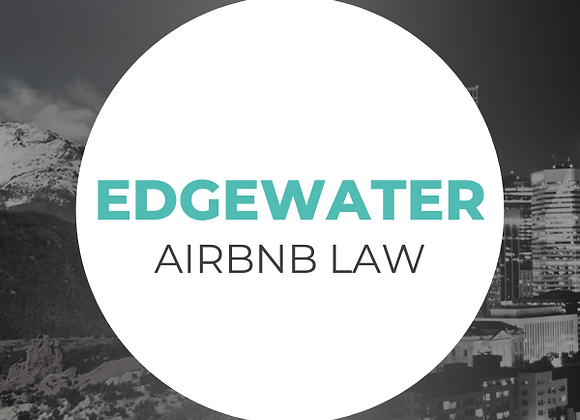Edgewater Airbnb Law
