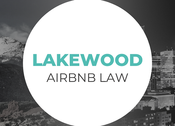 Lakewood Airbnb Law