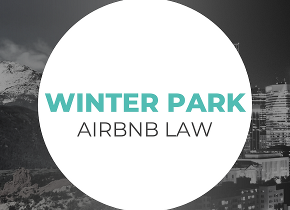 Winter Park Airbnb Law