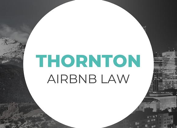Thornton Airbnb Law