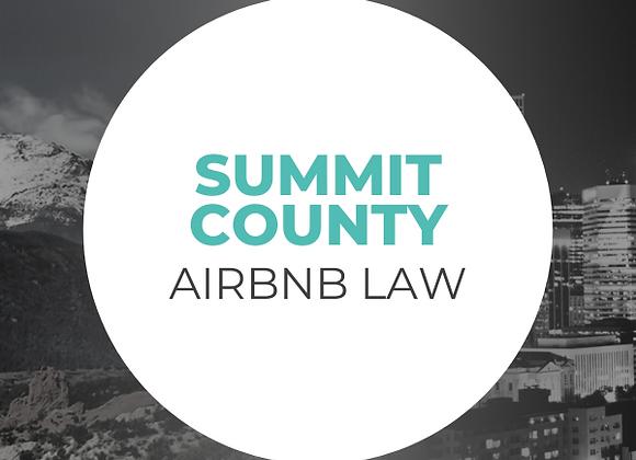 Summit County Airbnb Law