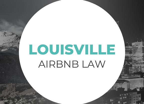 Louisville Airbnb Law