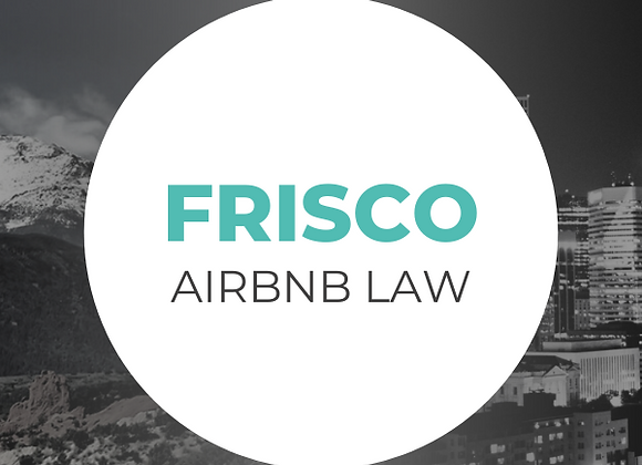 Frisco Airbnb Law