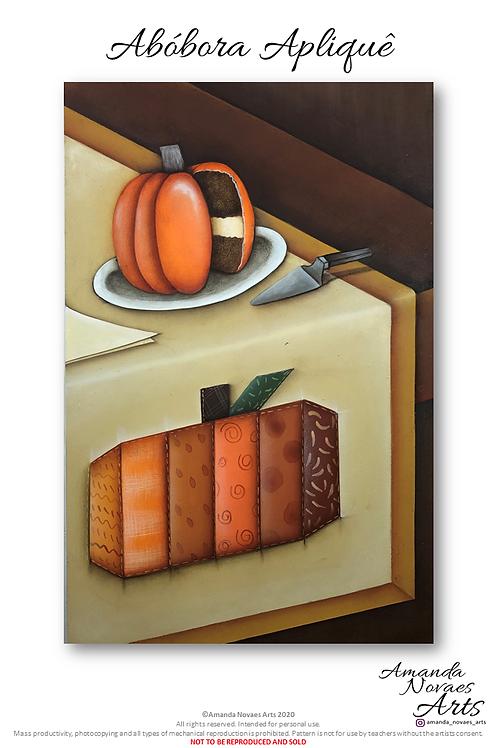 Pumpkin Tablerunner - Acrylic Painting - Eng-Us
