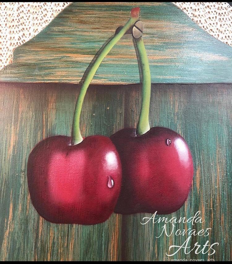 Cherry, Cherries, Decorative peinting, Decoart Makers,