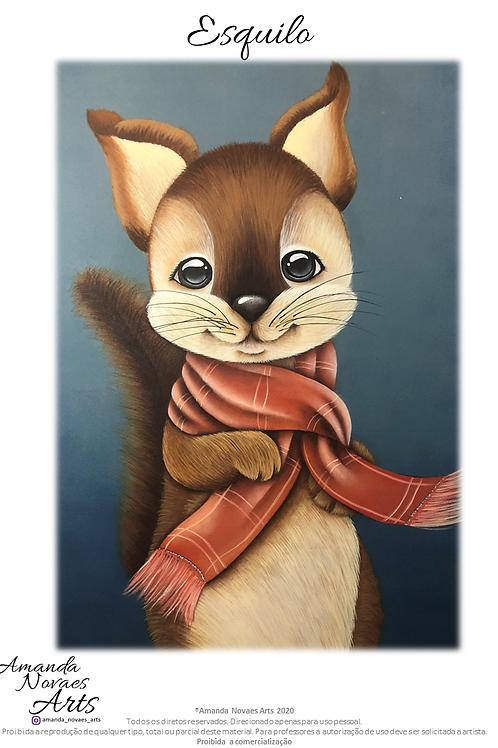 Esquilo - Pintura Acrílica - Pt-br