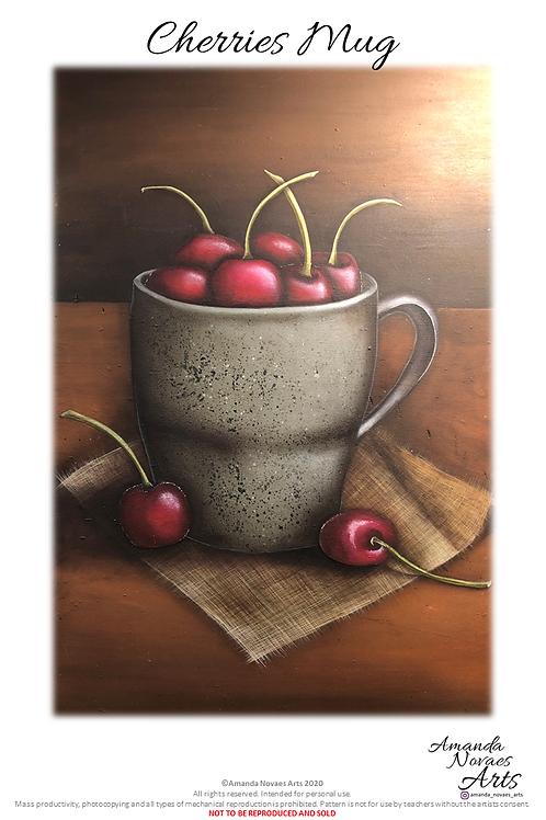 Caneca de Cerejas - Pintura Acrílica - PT-BR
