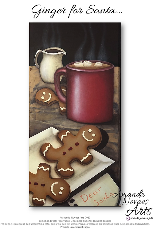 Ginger for Santa - Acrylic Painting - Eng-Us
