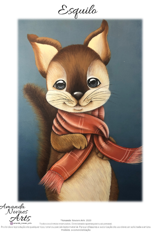 Winter Squirell - Acrylic Painting - Eng-Us