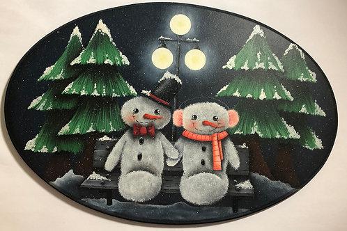Casal Snow - Pintura Acrílica - Pt-Br