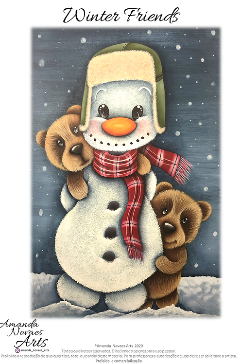Winter Friends- Acrylic Painting - ENG-US