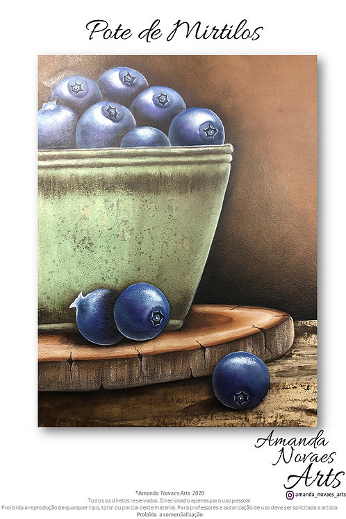 Blueberries - Acrylic Painting Eng-US